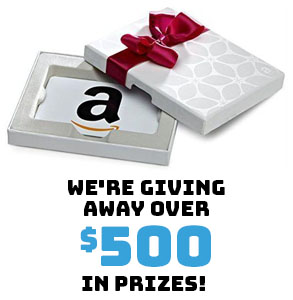 We're giving away over $500 in prizes!